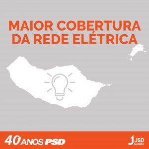 Maior cobertura da rede elétrica